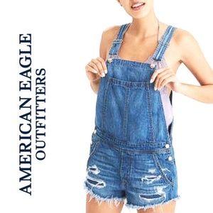 American Eagle Denim Overalls Shorts / 9312